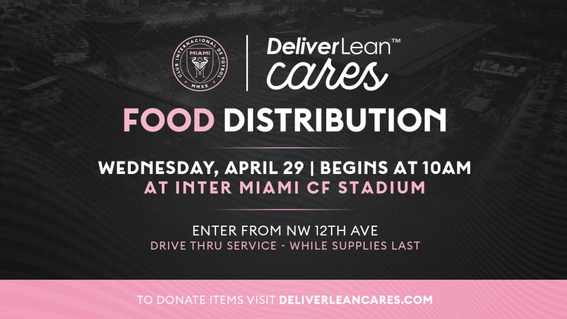 DeliverLean Launches Weekly Food Distribution Drive at Inter Miami CF Stadium