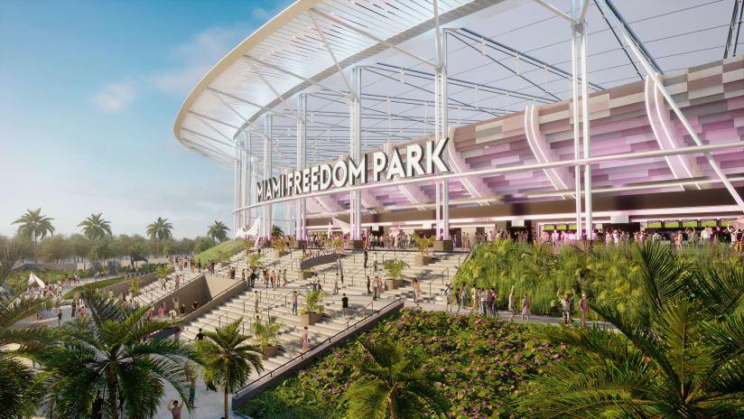 Miami freedom park internal for review pre Friday - https://miami-mp7static.mlsdigital.net/elfinderimages/2021/Miami%20Freedom%20park%2021/MFP_Signage_Inter%20Miami-%20Exterior%201.jpg