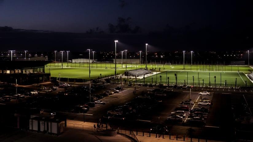 Inter Miami CF Training Complex Night Overhead Shot