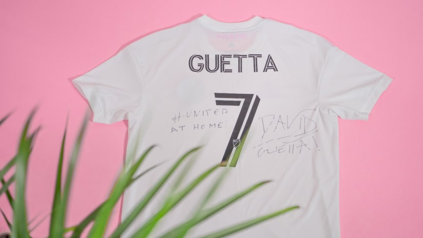 Inter Miami CF, David Guetta Auction Signed 'United at Home' Concert Jersey for Charity on eBay