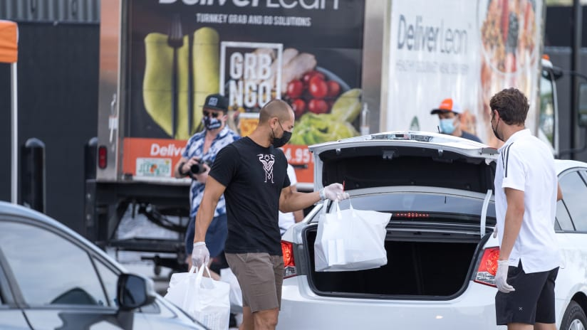 Food Distributed to Families in Need at Inter Miami CF Stadium