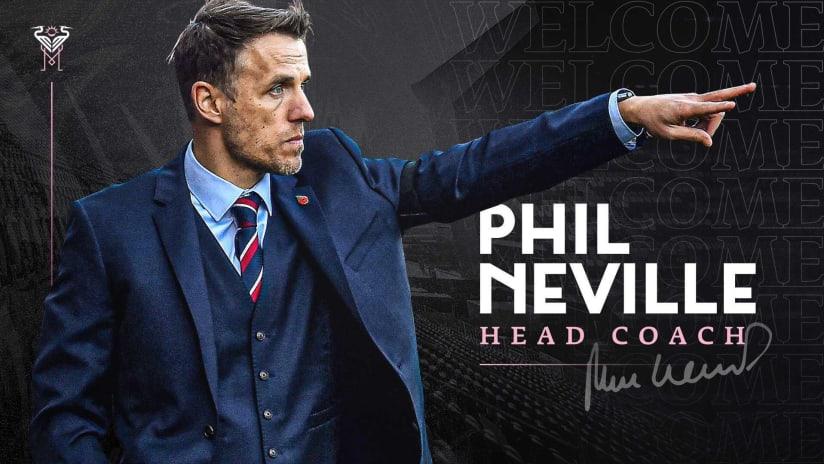 Phil Neville Announcement Graphic 1/18/21