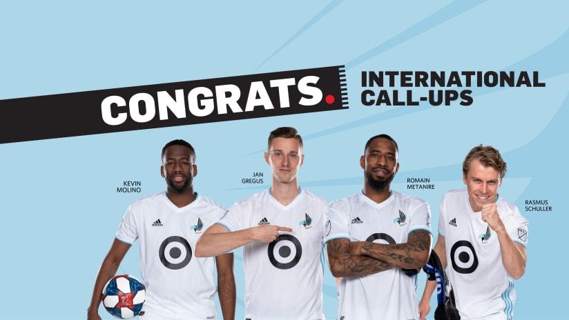 June International Call-Ups