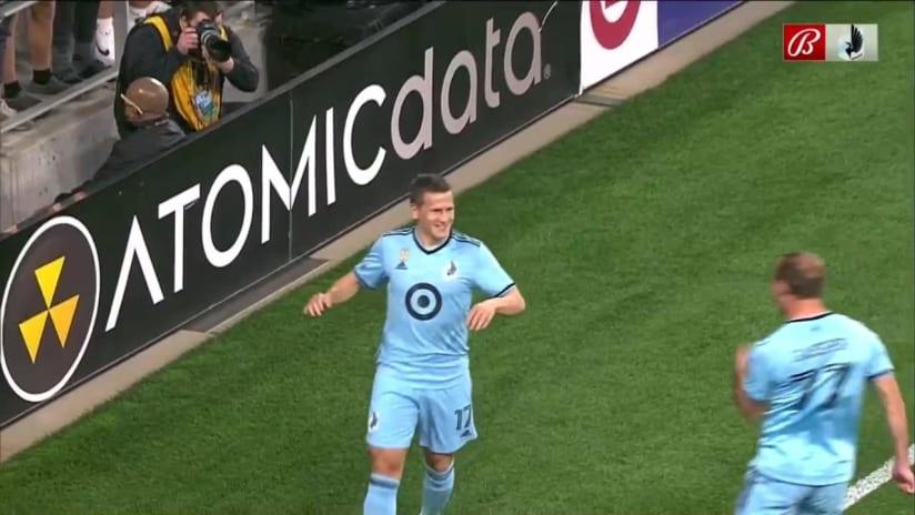 GOAL: Robin Lod, Minnesota United FC - 1st minute