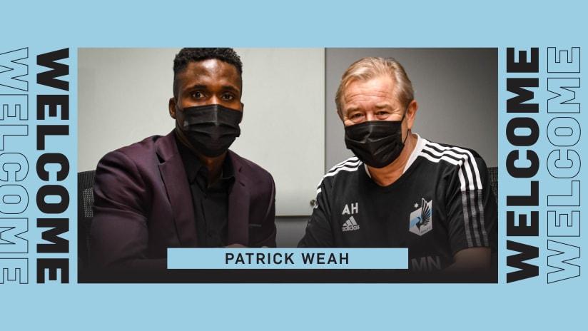 Patrick Weah Signing
