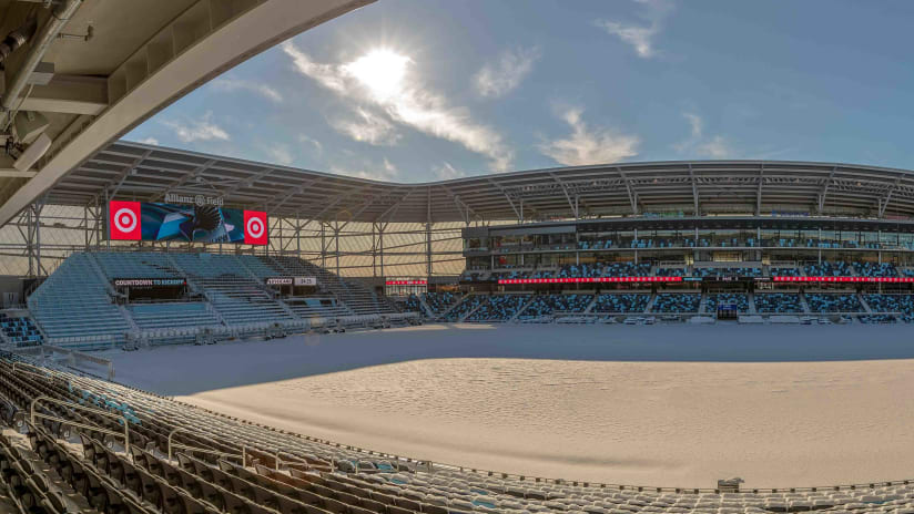 Allianz Field in the Snow