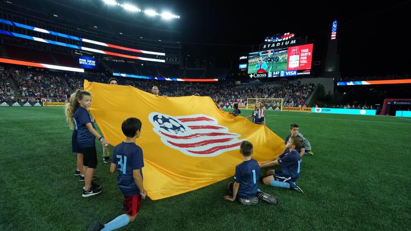 Revolution flag pregame Gillette Stadium