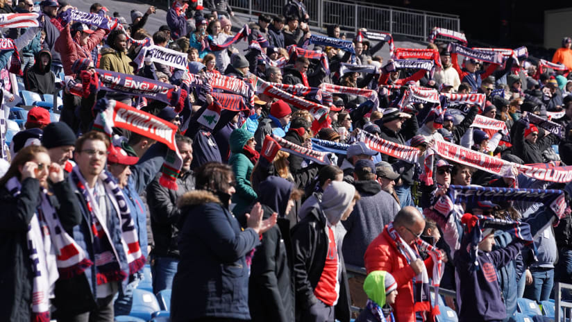 Supporters and fans at Gillette Stadium (2020)