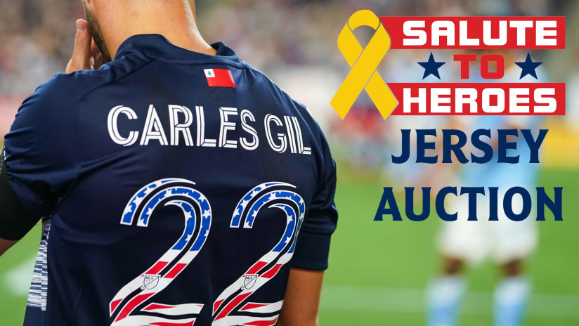 BID NOW | Salute to Heroes jerseys available for auction with proceeds going to charity