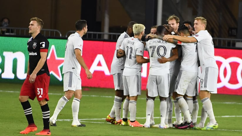 Goal celebration vs. D.C. United (2020, Colonial)