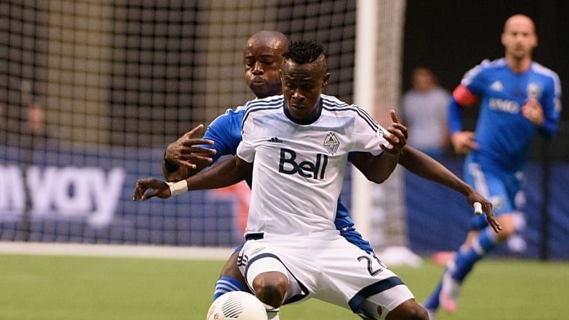 Gershon Koffie with Vancouver Whitecaps