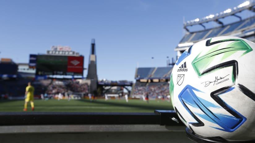 MLS match ball 2020 Gillette Stadium