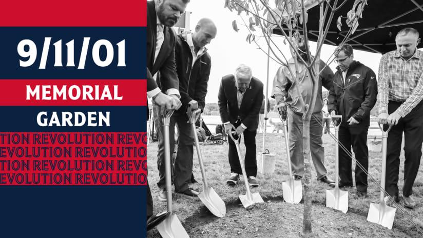 Kraft Family unveils 9/11 memorial garden at Patriot Place