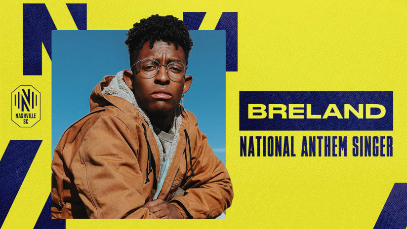 PLATINUM-Certified Artist BRELAND to Sing National Anthem at Nashville SC Match on May 8