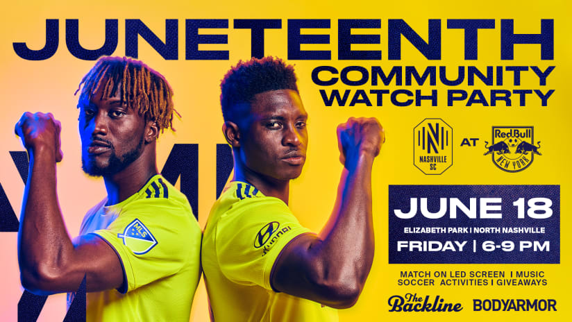 Nashville Soccer Club to Host Special Juneteenth Community Watch Party on June 18