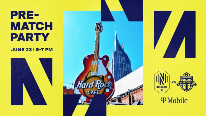 Nashville SC's First Pre-Match Party of the Summer is this Wednesday at Hard Rock Cafe