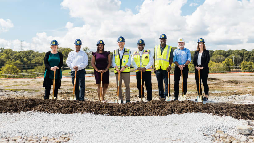 Nashville SC Holds Groundbreaking Ceremony for New Training Facility Site in Antioch