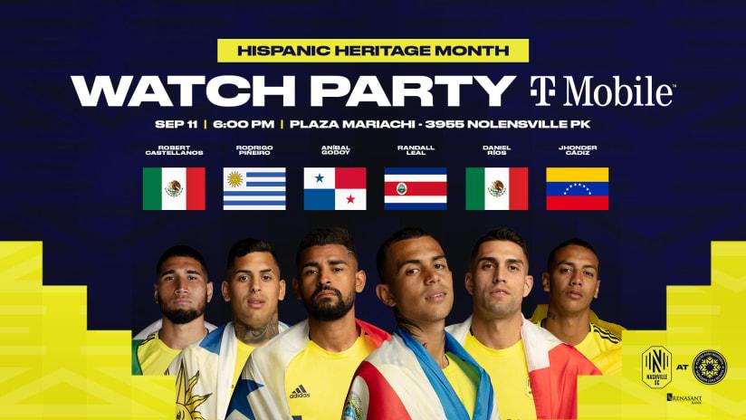Kick Off Hispanic Heritage Month with a Nashville SC Watch Party | Celebren El Mes De Herencia Hispana Con Nosotros