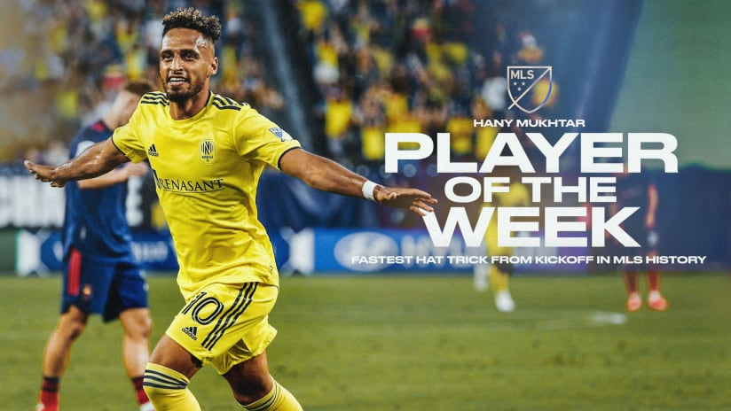 Nashville SC Midfielder Hany Mukhtar Voted MLS Player of the Week for Week 13
