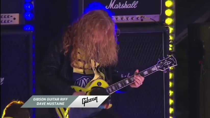 Dave Mustaine of Megadeth shreds Gibson Guitar Riff at Nashville SC's 2021 home opener