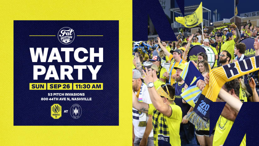 Head to Fat Bottom Brewing to watch Nashville SC vs Chicago Fire FC