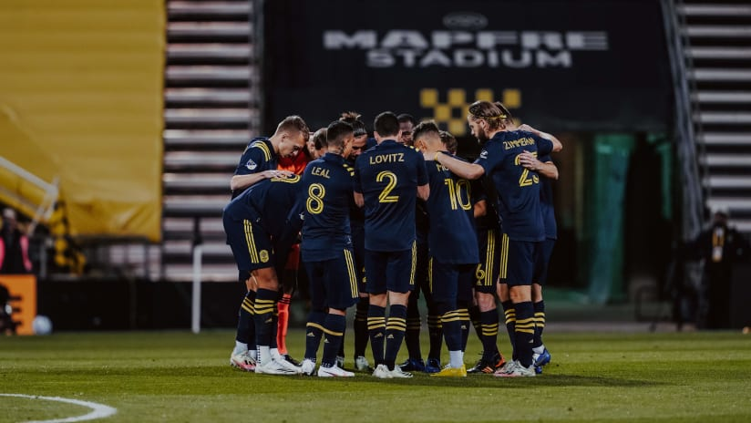 Huddle vs. Columbus Crew SC, 11.29.20