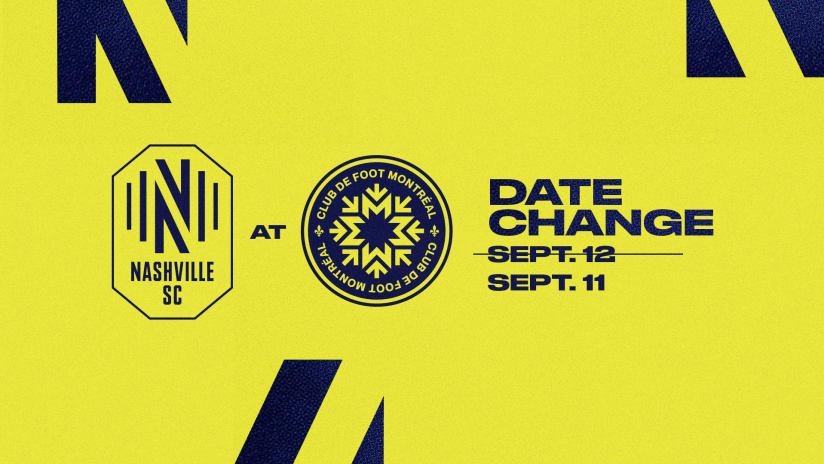 Nashville Soccer Club Announces Date Change in Away Match Against CF Montréal