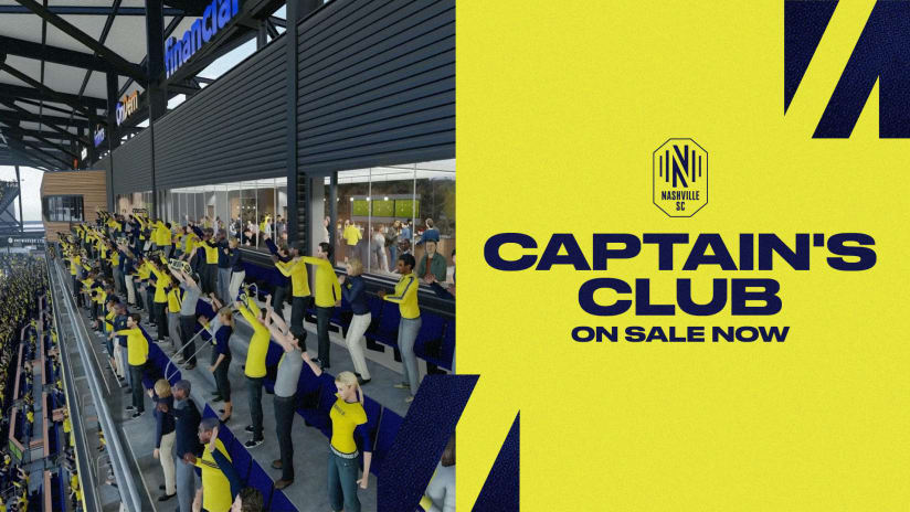 Captain's Club Section at Nashville SC Stadium Now on Sale to the General Public