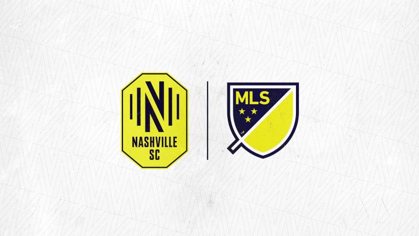 MLS and Nashville SC crests
