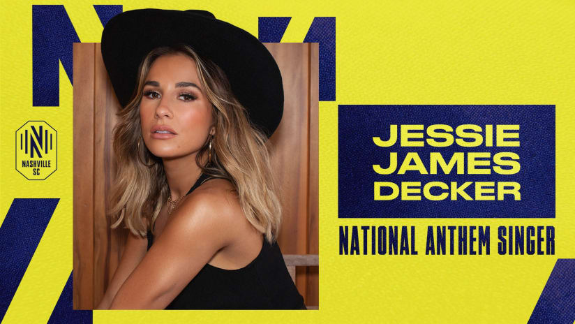 Nashville Artist Jessie James Decker to perform National Anthem at Nashville SC match on Sunday, May 2