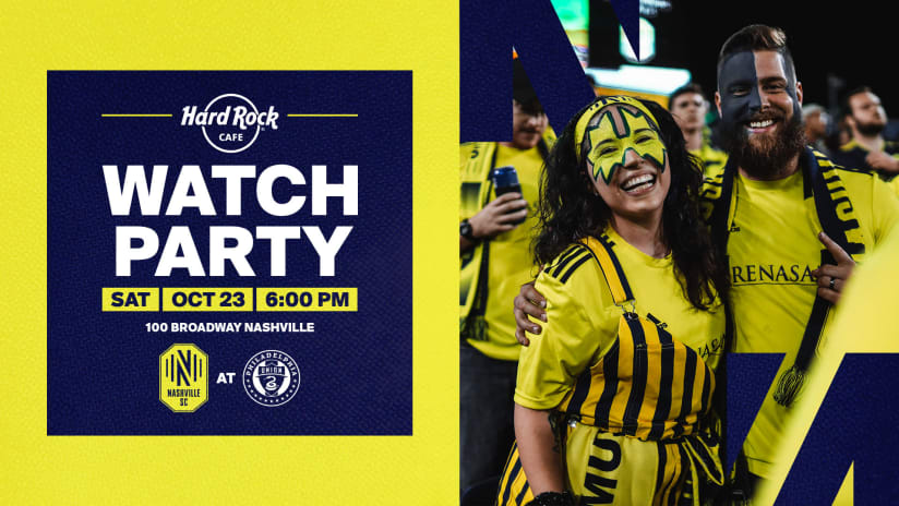 Nashville SC Watch Party and Gibson Guitar Riff Off at Hard Rock Cafe on Saturday