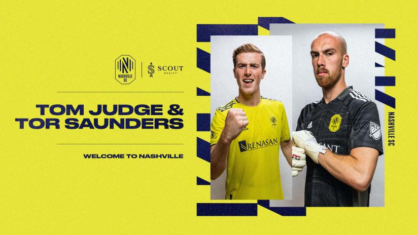 Nashville Soccer Club Signs Defender Tom Judge and Goalkeeper Tor Saunders