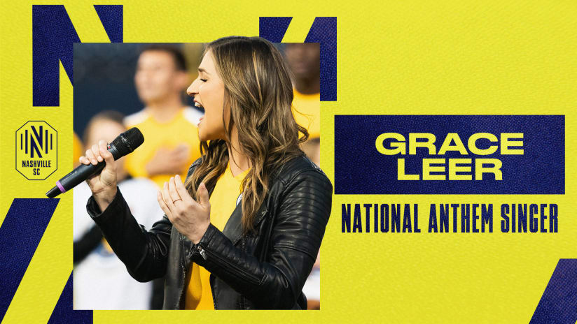 American Idol Alum Grace Leer to Perform National Anthem before Wednesday's Match