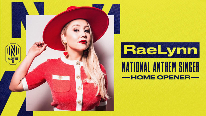 Nashville Artist RaeLynn to Perform National Anthem at 2021 Season Home Opener