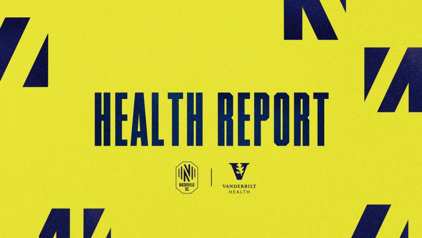 Health Report pres. by Vanderbilt Health: Nashville SC vs FC Cincinnati