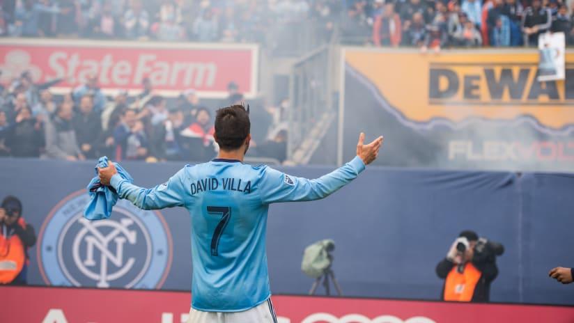 David Villa In Front of Fans vs Atlanta 1