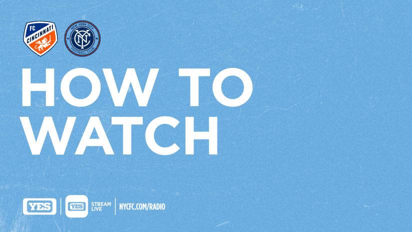 How to Watch & Listen to FC Cincinnati vs. NYCFC