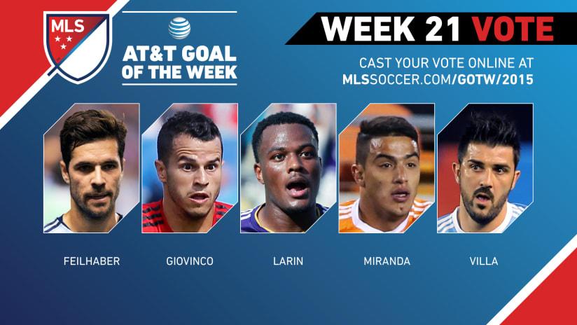 MLS Goal of the Week (Week 21)