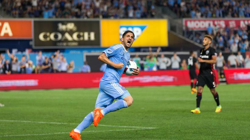 David Villa Celebrating vs DC United 9/1/16 IMAGE