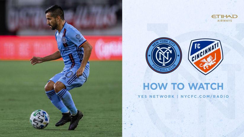 NYCFC vs CIN How to Watch
