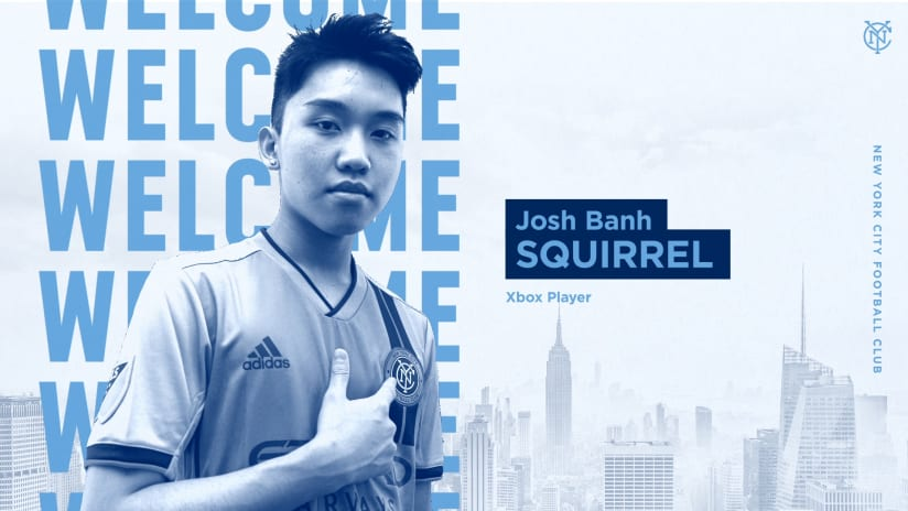 """Esports Update: Josh """"Squirrel"""" Banh to Represent NYCFC as Club's Official Xbox FIFA Player; Chris Holly Returns for 2021"""