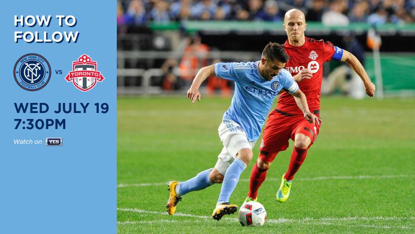 NYCFC vs Toronto How to Follow