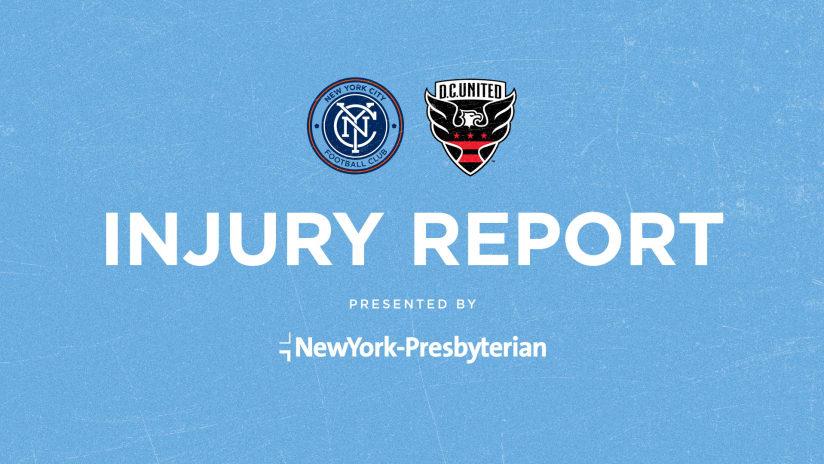 Injury Report vs DCU