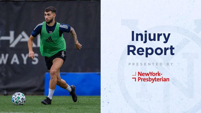 NYCvMTL Injury Report