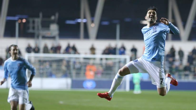 David Villa scores vs. St Mirren