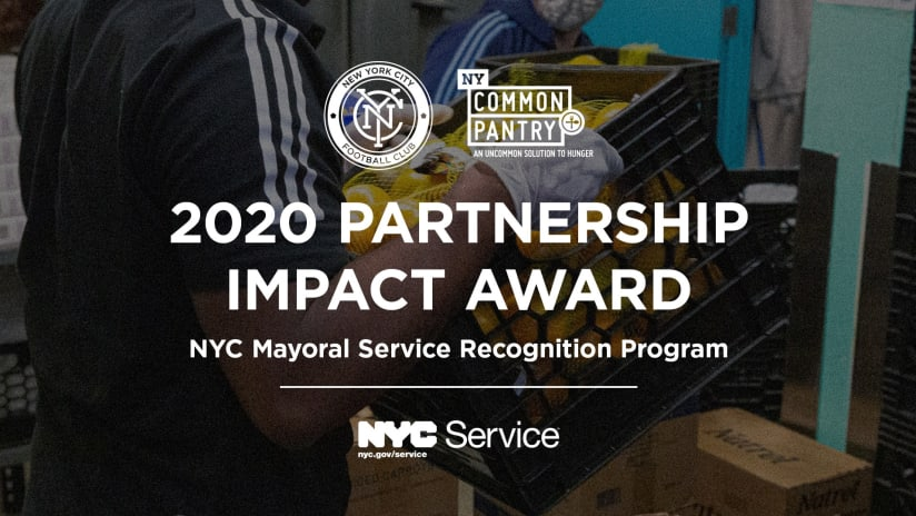 NYCFC and NYCP with Partnership Impact Award