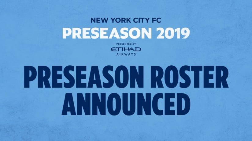 Preseason Roster 2019
