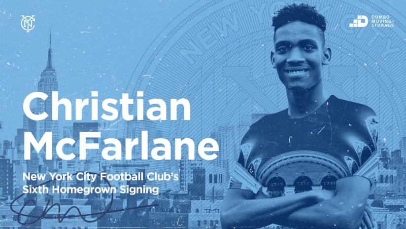 New York City FC Signs Academy Product Christian McFarlane to Homegrown Contract