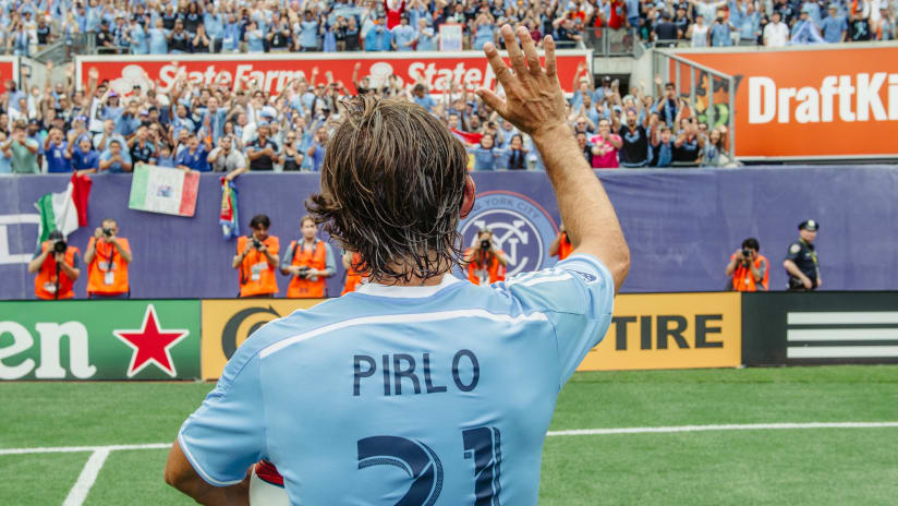 Andrea Pirlo after Orlando City SC match