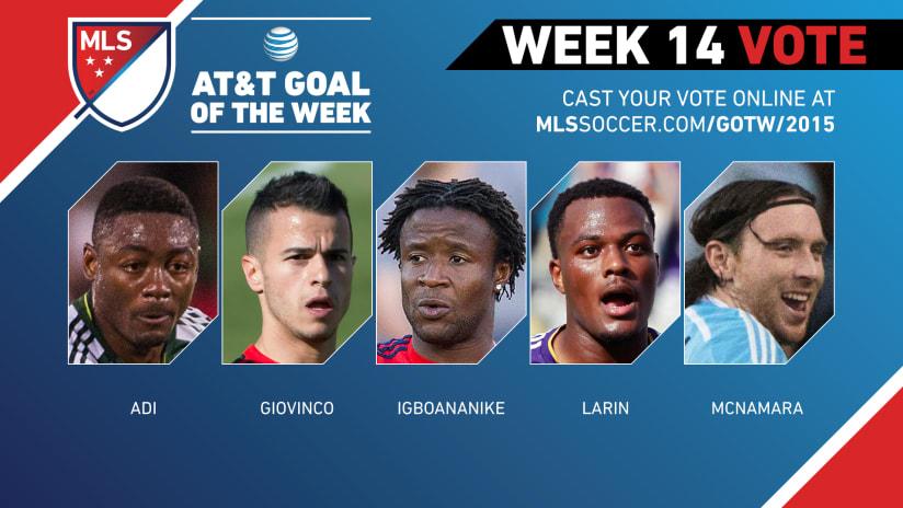 MLS Goal of the Week (Week 14)